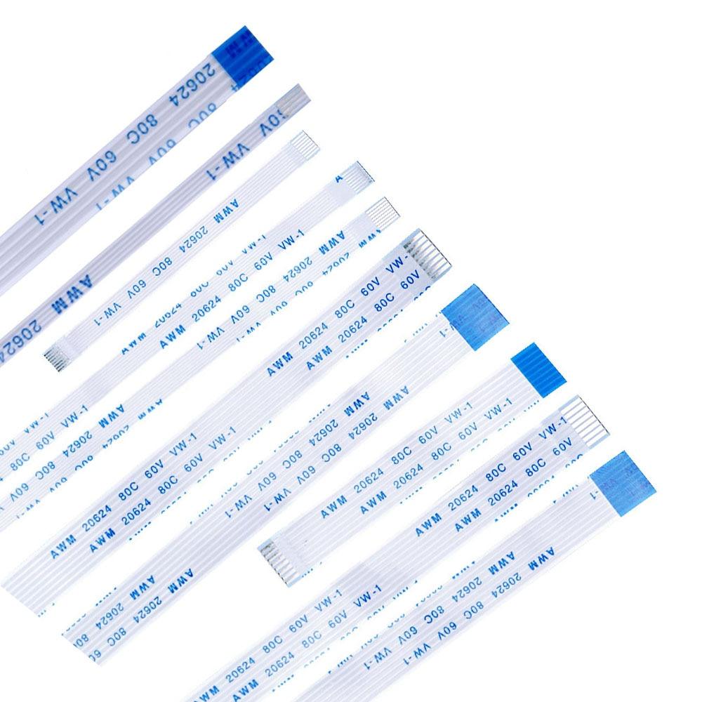 10PCS 25CM 30CM 40CM Flat Flexible Cable FFC FPC LCD Cable AWM 20624 80C 60V VW-1 Pitch 0.5 1.0MM 4P-40Pin 8P 12P 20P 24P 26P