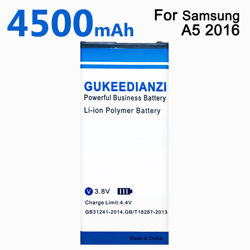GUKEEDIANZI EB-BA510ABE 4500mAh Phone Replacement High Capacity Battery For Samsung GALAXY A5 2016 Edition A510 SM A510F A5100(China)