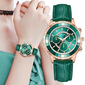 Image 5 - Luxury Brand Three Eyes Dial Women Wrist Watches Casual Ladies Quartz Dress Watches Montre Femme Dropshipping