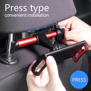Image 2 - 7 14 Inch Adjustable Car Tablet Stand Holder 360 Rotation Car Rear Pillow Holder Auto Tablet Car Stand Seat Back Bracket