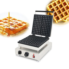 SUCREXU Commercial 4PCS Square Belgian Waffle Baker Maker Nonstick Stainless Steel CE 110v 220v
