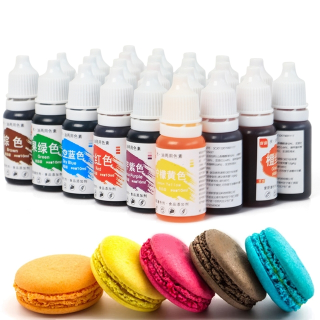 24 Colors Edible Pigment 10ML Food Coloring Healthy Safe Fondant Cake Decorating Tools Macaron Cream Cake Baking & Pastry Tools 1