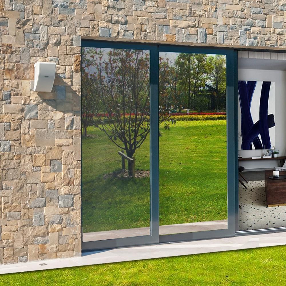 Length 8 M Heat Reducing Window Film Solar Control Glass Film Privacy One Way Mirror Film Reflective Sun Block Sticker For Home