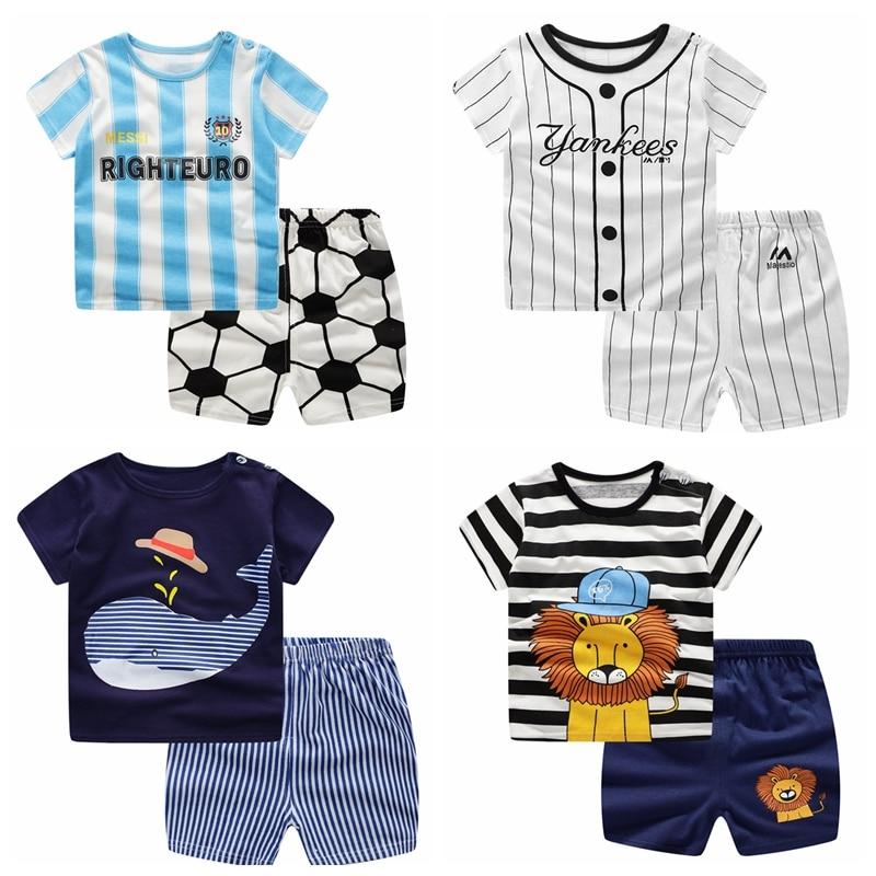 Детский спортивный костюм для мальчиков, летний футбольный костюм для детей 24 месяцев