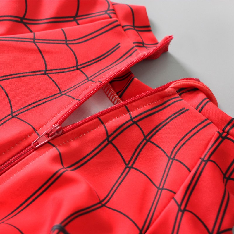 2019 New Style Boy CHILDREN'S Swimwear Baby Big Boy One-piece Long Sleeve Trousers Extra-large Spider-Man Swimwear