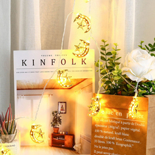 Lights Star LED for New-Year Christmas Wedding Home Indoor Decoration Garland Fairy Mini