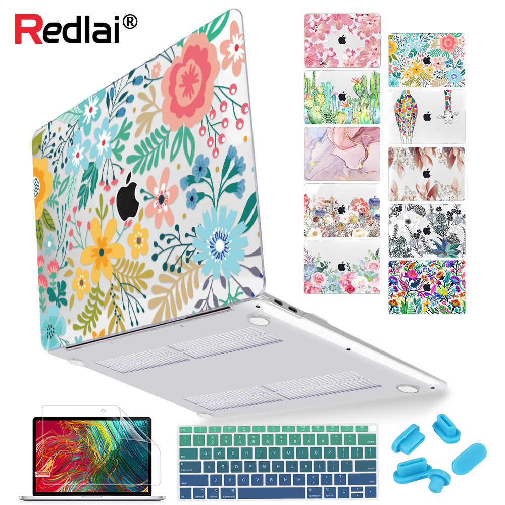 Bloemen Laptop Case Voor Macbook Air A1932 A2179 2020 Pro 13 16 Inch Touch Bar A2289 A2141 A2159 Plastic Hard case Keyboard Skin