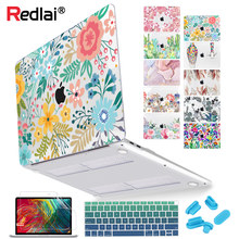 Floral Laptop Case for MacBook Air A2337 A2179 2020 Pro 13 16 inch Touch bar A2289 A2141 A2338 Plastic Hard Case Keybaord Skin