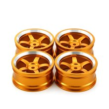 4PCS Aluminum 52MM Wheel Rims For HSP 94123 94122 1/10 Off Road Monster Truck RC Climbing Car Upgrade Parts mxfans 4pcs 286004 shock absorber for hsp rc 1 16 model truck car upgrade parts