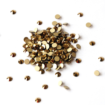 Mix Size ss3-ss34 Aurum Color Nail Art Rhinestones Glass Crystal Flat Back Non Hotfix Stone Diamonds For 3D Nails Decorations
