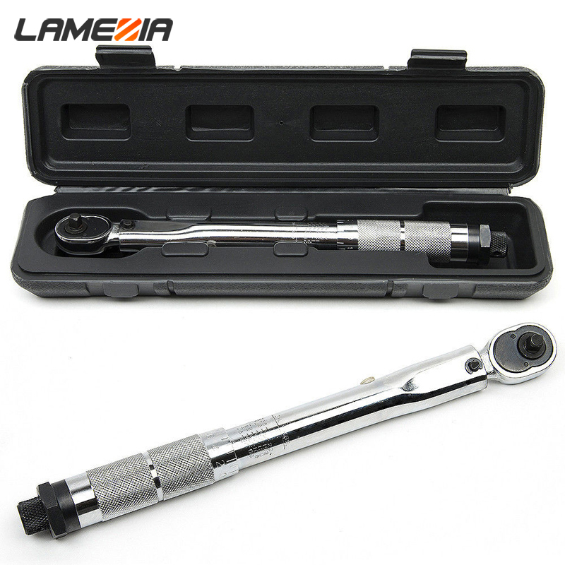 LAMEZIA 1/4 3/8 1/2 The Torque Wrench Drive 5-210 Nm Two - Way To Accurately Mechanism Spanner Hand Tool