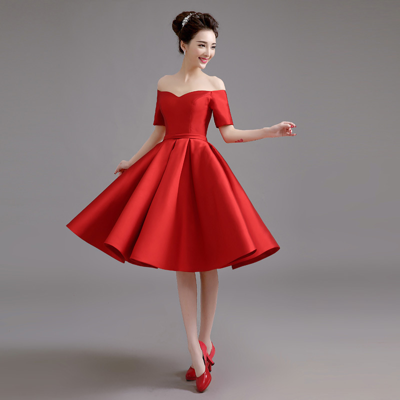 2020 Top Fashion Sale Beach Bridesmaid Dress A Word Shoulder Long Satin Chair Toasting Party Uniform In Show Thin Spring Winter