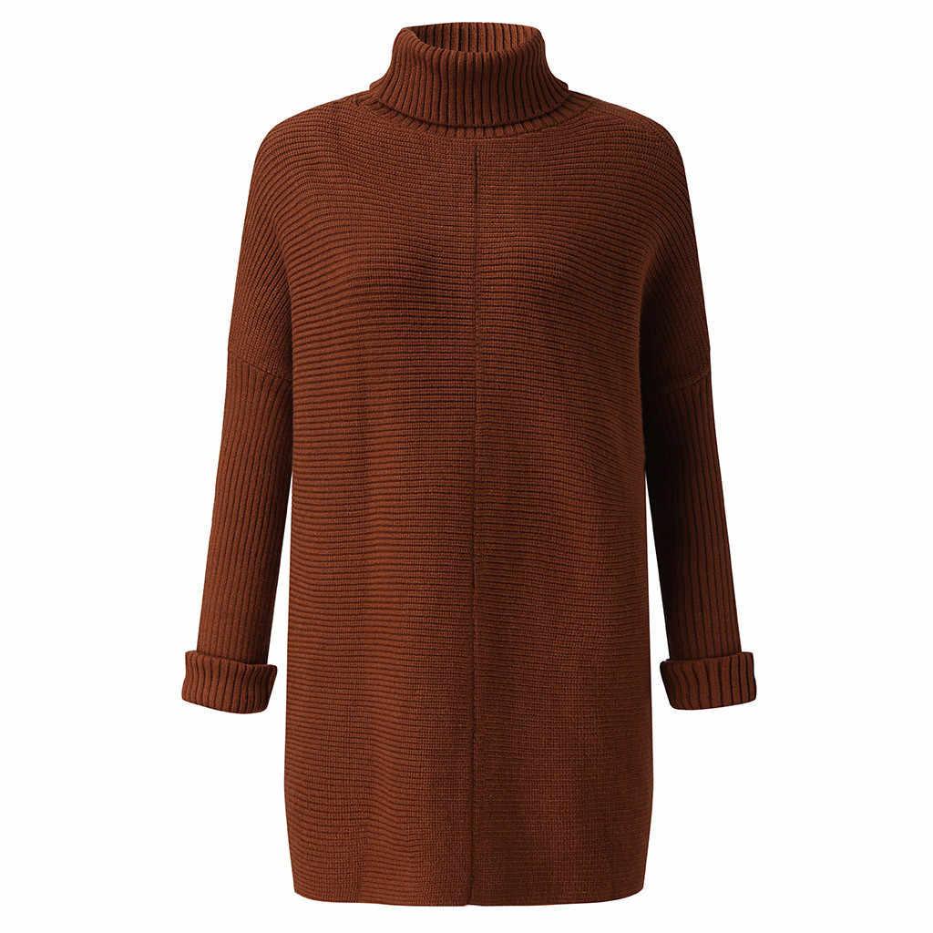 Негабаритные свитера для женщин, водолазка, вязаные пуловеры, женские зимние рукава летучая мышь, толстый джемпер, свободные топы, теплые длинные вязаные повседневные