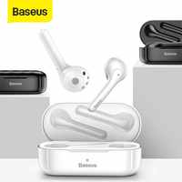 Baseus w07 tws bluetooth fone de ouvido sem fio bluetooth 5.0 fone estéreo handsfree fone caixa carregamento