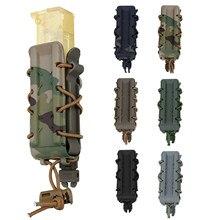 Taktik 9MM / 45ACP dergisi kılıfı kılıf Molle kemer Airsoft Molle Mag kılıfı tabanca dergisi torbalar hızlı bağlantı taşıyıcı
