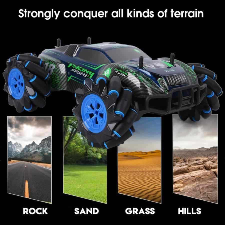 2.4G 4WD RC Drift Đóng Thế Xe Dây Điều Khiển 360 Dgree Xoay Ngoài Đường Leo Núi Buggy Xe Có Nhạc ánh Sáng Cho Trẻ Em Quà Tặng