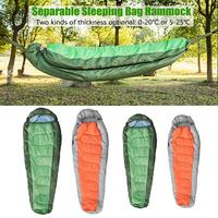 Sleeping bag type hammock detachable thickening Spring autumn winter warm waterproof hooded Camping hammock with Hammock Straps