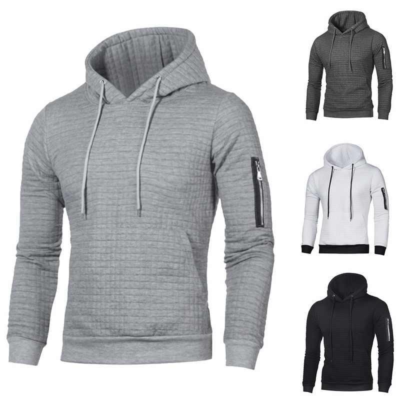 2019 Nieuwe Trui Mannen Effen Truien Mode Mannen Casual Hooded Sweater Herfst Winter Warm Femme Mannen Kleding Slim Fit Jumpers