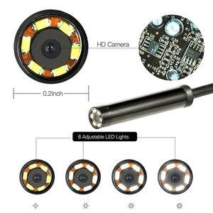 Image 4 - 7mm 2 IN 1 USB Endoscope 480P HD Snake Tube Borescope USB Endoscopio Inspection Micro Camera For PC Smart Phone