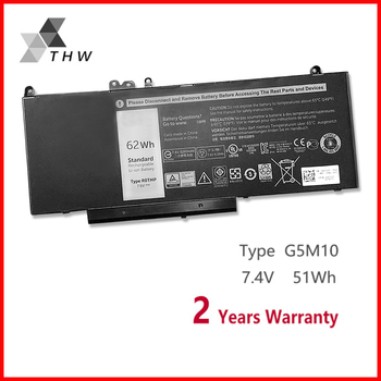 THW G5M10 7.4V 51WH Laptop battery For DELL Latitude E5250 E5450 E5470 E5550 E5570 8V5GX R9XM9 WYJC2 1KY05 With Tracking Number