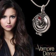O vampiro diário colar elena gilbert moda verbena verbena pingente foto medalhão jóias masculino feminino presente de festa de natal