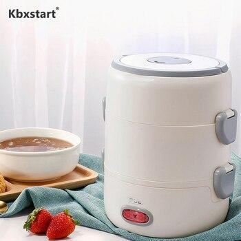 Мини-Паровая рисоварка Cuiseur, многофункциональная электрическая плита, 2 шт., керамические суповые контейнеры для ланча, 220 В, кухонная техник...