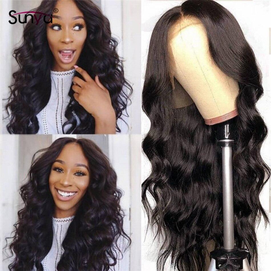 Sunya 13x6 Lace Front Human Hair Wigs Brazilian Remy 13x4 Body Wave Human Hair Wigs 28 30 inch Lace front wig For Black Women