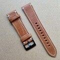 Echtes Leder Uhr Band Strap 18mm 19mm 20mm 21mm 22mm 24mm Schwarz Dunkelbraun vintage Uhrenarmbänder Gürtel Silber Schwarz Schnalle|Uhrenbänder|Uhren -