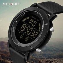 SANDA Casual Digital Watch Men Military Waterproof