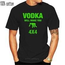 Haut tricolore T-shirt Vodka vous fera 4x4 drôle boisson hommes & T-shirt