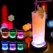 Креативный светодиодный светильник для бара/дома/KTV, подставка для коктейля, круглый светильник с гравитационным датчиком, подставка для батареек для смешивания напитков