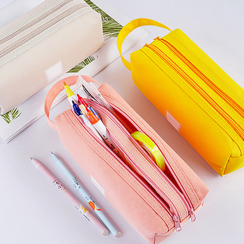 Large-capacity Stationery Box Pencil Case School Office Stationery Bag Pen Box Pencil Bag Pencil Pouch Student Studying Supplies simple camouflage pencil case small fresh large capacity pen box student student stationery bag pencil bag orange