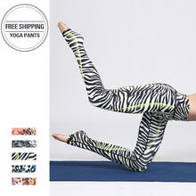 Women Gym Leggings Leggings Pocket Printing zebra Leggings Casual High Waist Pencil Pants Yoga Pants