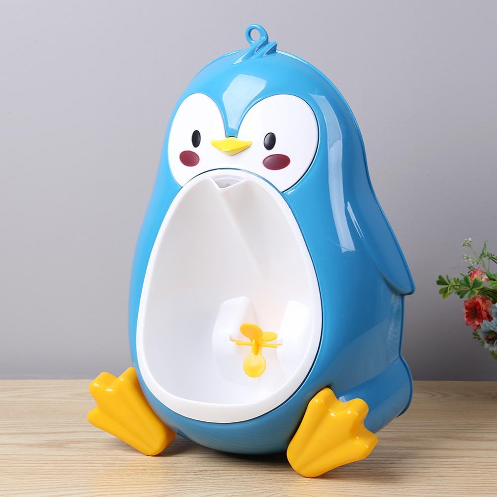 Cherrypop Urinoir vertical pour enfant Motif pingouin Bleu