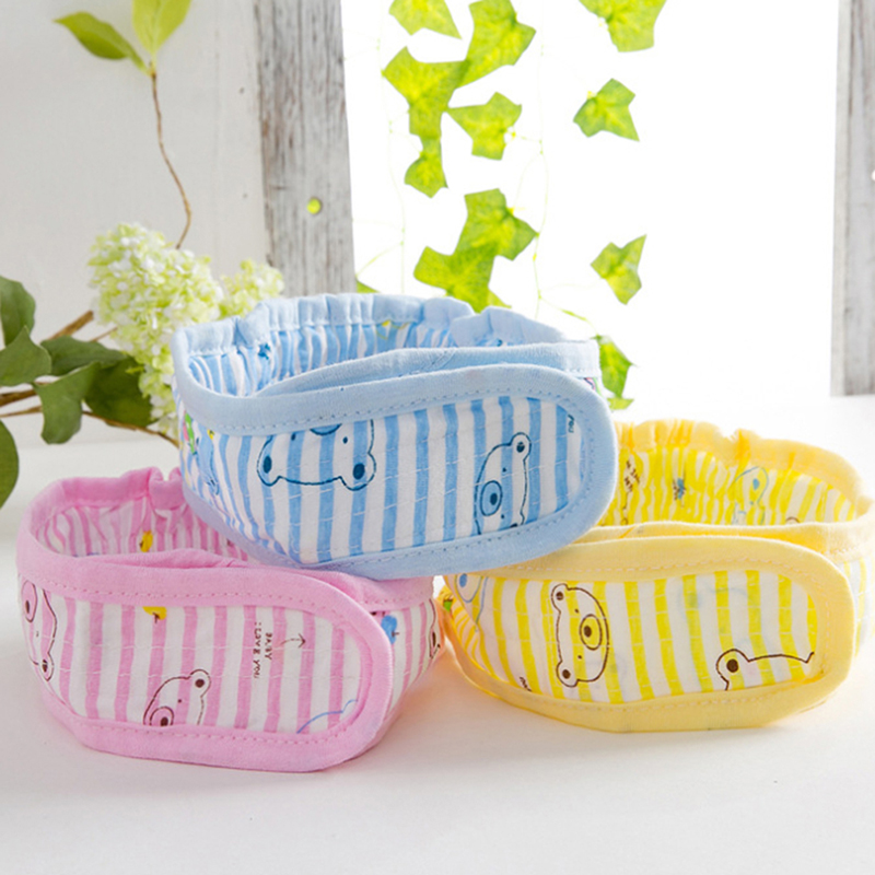Newborn Baby Diaper Belt Buckle Cute Cartoon Cotton Baby Diaper Fasteners Infant Kids Fixed Belt Strap