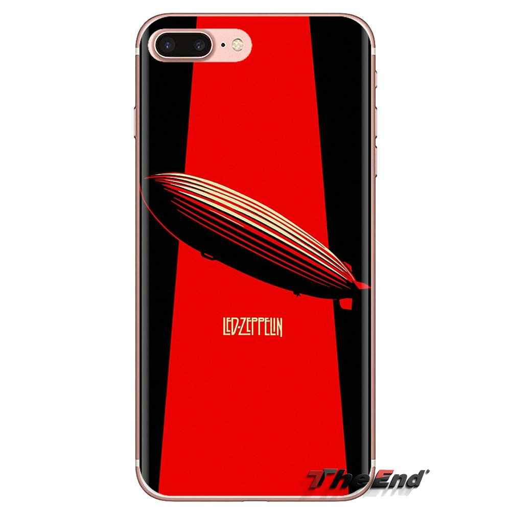 TPU torba Case dla iPhone XS Max XR X 4 4S 5 5S 5C SE 6 6S 7 8 plus Samsung Galaxy J1 J3 J5 J7 A3 A5 Led Zeppelin logo legenda pasek