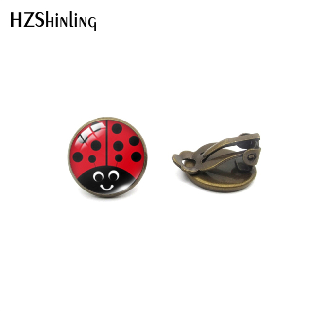 Earrings Cute Ladybug Jewelry No Pierced Earrings Gifts for Girls 6