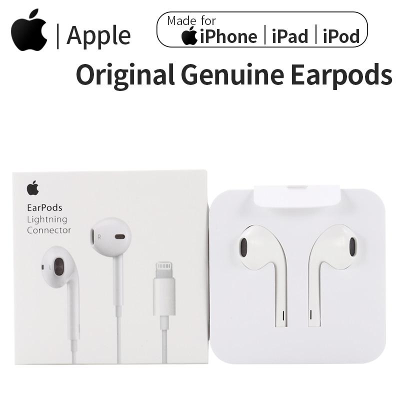 Оригинальные наушники Apple Earpods с разъемом 3,5 мм и Lightning, спортивные наушники-вкладыши, глубокие богаче басов, гарнитура для iPhone/iPad