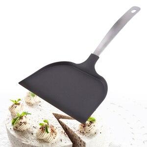 Punho de aço inoxidável forno bolo pá buraco design não vara pá casa pizza casca anti deslizamento pão cozinha bakeware