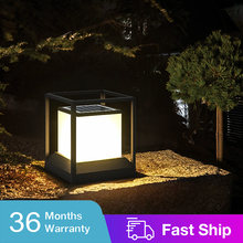 Simple Style Garden Solar Lawn Lamp 5W Landscape Lighting Column Head Light Outdoor Waterproof For Pathway Patio Courtyard villa