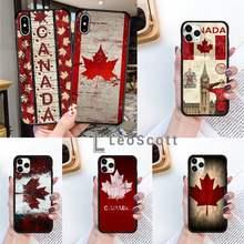 Funda de teléfono con bandera canadiense para iPhone, 11, 12 pro, XS MAX, 8, 7, 6, 6S Plus, X, 5S, SE, 2020, XR