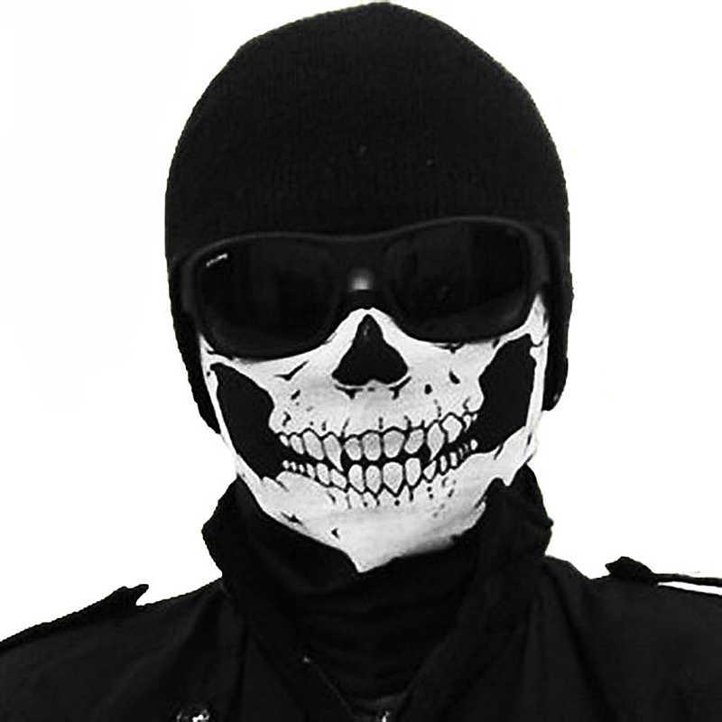 في الهواء الطلق متعددة الوظائف قناع هيكل جمجمة أغطية الرأس قبعة الرقبة شبح وشاح في الهواء الطلق دراجة نارية دراجة نصف قناع الوجه