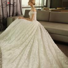 SERMENT Wedding Dress Beach Mermaid Full Body White Feather Decoration Court Train Laca Up Boat Neck Free Custom Made Plus Size