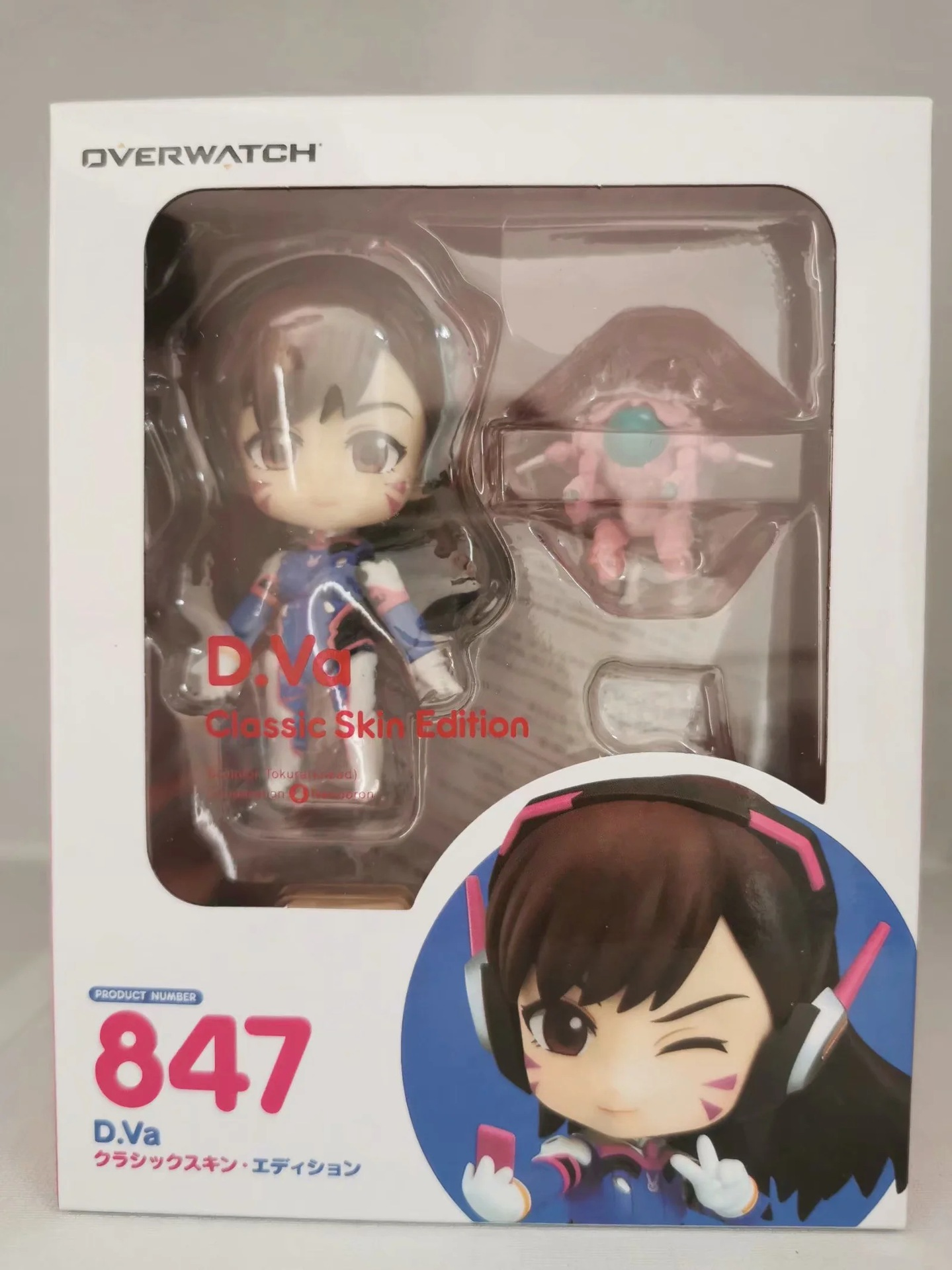 Overwatches D.Va 847 # Figures Song Hana Classic Skin Edition Changeable Face Doll Action Figures Collectable Model Toy Gifts 5