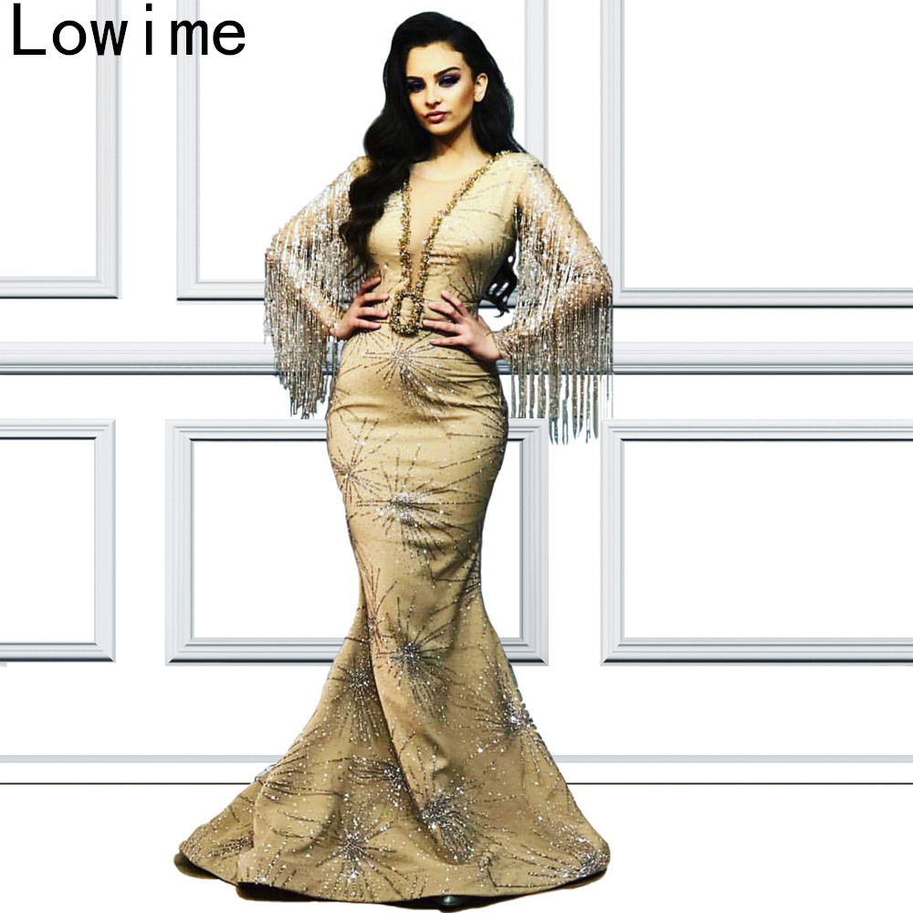 Plus Size Glitter Dubai   Prom     Dress   Long Middle East vestidos de fiesta de noche 2019 Sexy Cocktail Party Gowns Abendkleider