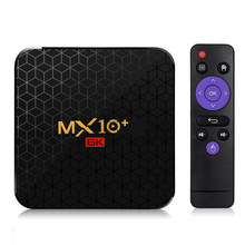 MX10 Plus Android 9,0 TV Box Allwinner H6 UHD 4K Reproductor Multimedia Inteligente 6K 4GB/32GB 2,4G/5G WiFi BT4.0 USB3.0 H.265 VP9 Set Top Box