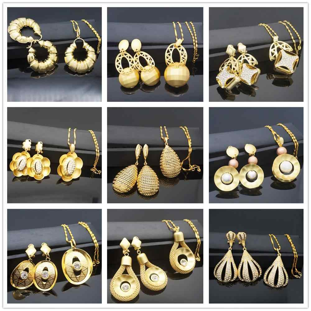 Jewelry Sets For Women Necklace Earrings Pendant Big Round Jewelry Sets For Wedding Jewelry Gifts