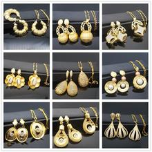 Jewelry Sets For Women Necklace Earrings Pendant Big Round Wedding Gifts