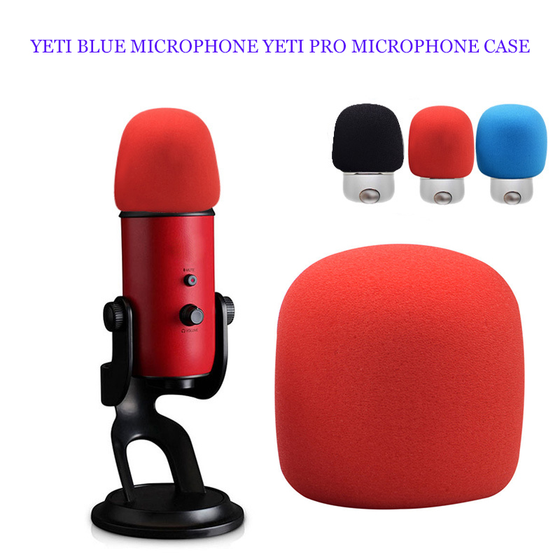 Dustproof Microphone Cover Podcasting Cover Headset Foam Sponge Windscreen Mic Cover Black Soft For Blue Yeti/Yeti Pro Interview