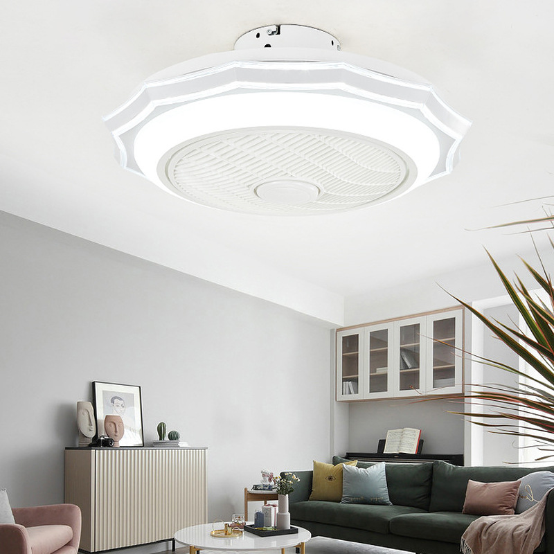 Able The New Living Room Bedroom Style Led Fan Light Octagonal Creative Lamp Tricolor Light Source Ceiling Lamp Ceiling Fan Light To Rank First Among Similar Products
